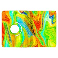 Happy Multicolor Painting Kindle Fire Hdx Flip 360 Case by designworld65