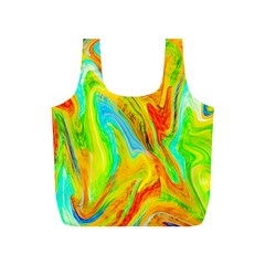 Happy Multicolor Painting Full Print Recycle Bags (s)  by designworld65
