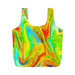 Happy Multicolor Painting Full Print Recycle Bags (M)