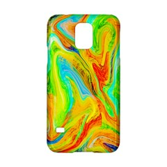 Happy Multicolor Painting Samsung Galaxy S5 Hardshell Case  by designworld65