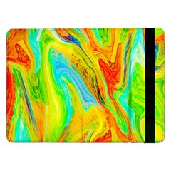 Happy Multicolor Painting Samsung Galaxy Tab Pro 12 2  Flip Case by designworld65