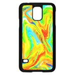 Happy Multicolor Painting Samsung Galaxy S5 Case (Black)