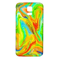 Happy Multicolor Painting Samsung Galaxy S5 Back Case (white) by designworld65