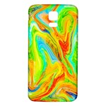Happy Multicolor Painting Samsung Galaxy S5 Back Case (White)