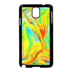 Happy Multicolor Painting Samsung Galaxy Note 3 Neo Hardshell Case (black) by designworld65