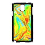 Happy Multicolor Painting Samsung Galaxy Note 3 Neo Hardshell Case (Black)