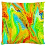 Happy Multicolor Painting Standard Flano Cushion Case (One Side)