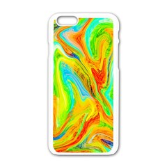 Happy Multicolor Painting Apple Iphone 6/6s White Enamel Case by designworld65
