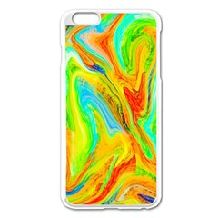 Happy Multicolor Painting Apple Iphone 6 Plus/6s Plus Enamel White Case by designworld65