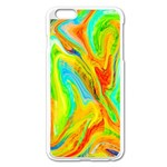 Happy Multicolor Painting Apple iPhone 6 Plus/6S Plus Enamel White Case