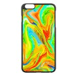 Happy Multicolor Painting Apple iPhone 6 Plus/6S Plus Black Enamel Case