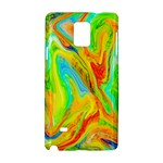 Happy Multicolor Painting Samsung Galaxy Note 4 Hardshell Case
