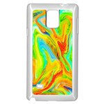 Happy Multicolor Painting Samsung Galaxy Note 4 Case (White)