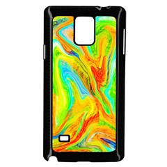 Happy Multicolor Painting Samsung Galaxy Note 4 Case (black) by designworld65