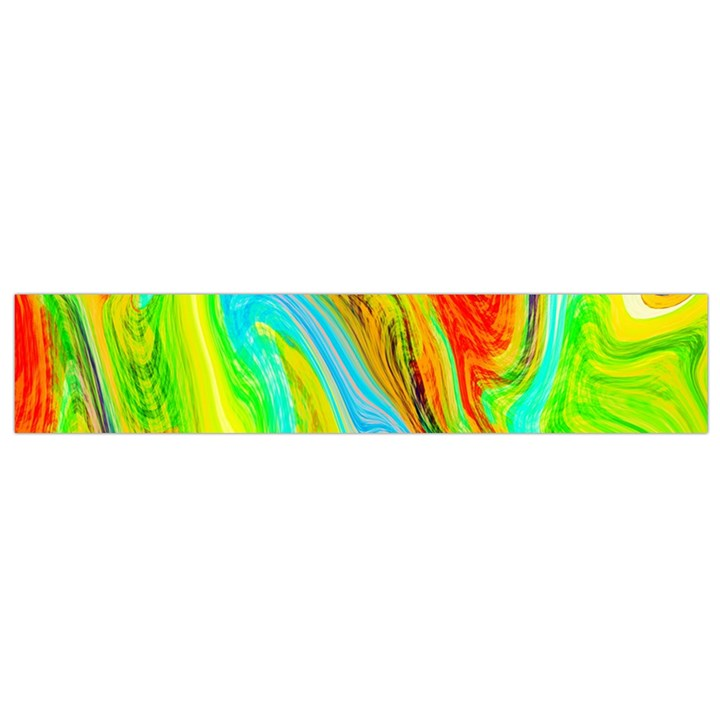 Happy Multicolor Painting Flano Scarf (Small)