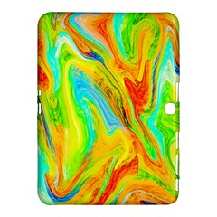 Happy Multicolor Painting Samsung Galaxy Tab 4 (10 1 ) Hardshell Case