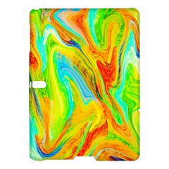 Happy Multicolor Painting Samsung Galaxy Tab S (10 5 ) Hardshell Case  by designworld65