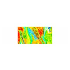 Happy Multicolor Painting Satin Scarf (oblong)