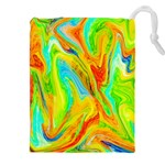 Happy Multicolor Painting Drawstring Pouches (XXL)