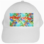 Colorful Mosaic  White Cap