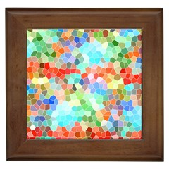 Colorful Mosaic  Framed Tiles by designworld65