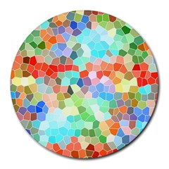 Colorful Mosaic  Round Mousepads by designworld65