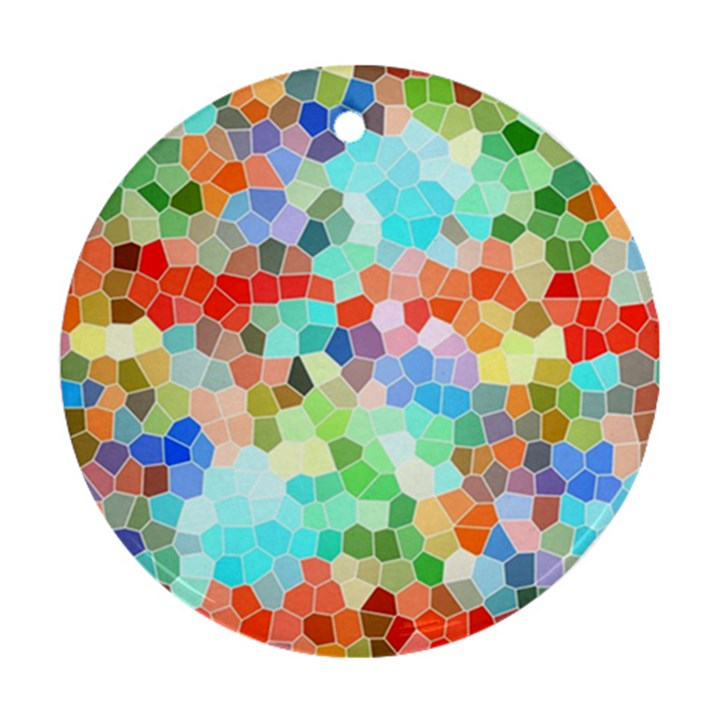Colorful Mosaic  Ornament (Round)