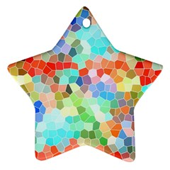 Colorful Mosaic  Ornament (star)  by designworld65