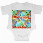 Colorful Mosaic  Infant Creepers Front