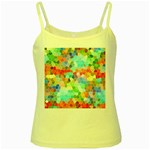 Colorful Mosaic  Yellow Spaghetti Tank
