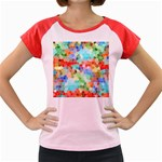 Colorful Mosaic  Women s Cap Sleeve T-Shirt Front