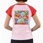 Colorful Mosaic  Women s Cap Sleeve T-Shirt Back