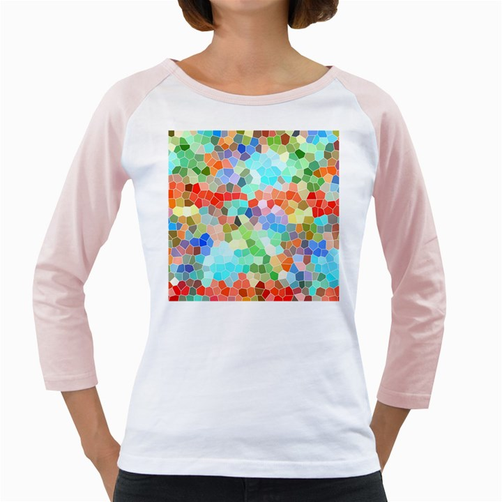 Colorful Mosaic  Girly Raglans