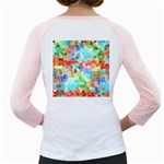 Colorful Mosaic  Girly Raglans Back