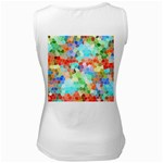 Colorful Mosaic  Women s White Tank Top Back