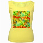 Colorful Mosaic  Women s Yellow Tank Top