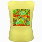 Colorful Mosaic  Women s Yellow Tank Top Back