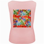 Colorful Mosaic  Women s Pink Tank Top Back