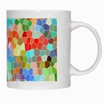 Colorful Mosaic  White Mugs Right