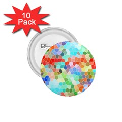 Colorful Mosaic  1 75  Buttons (10 Pack) by designworld65
