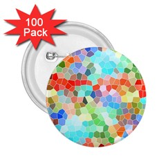 Colorful Mosaic  2 25  Buttons (100 Pack)