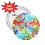Colorful Mosaic  2.25  Buttons (100 pack)  Front