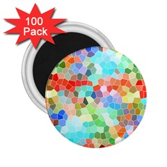 Colorful Mosaic  2 25  Magnets (100 Pack)  by designworld65