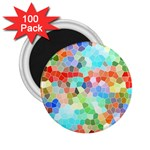 Colorful Mosaic  2.25  Magnets (100 pack)