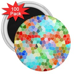 Colorful Mosaic  3  Magnets (100 Pack) by designworld65