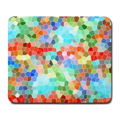 Colorful Mosaic  Large Mousepads by designworld65
