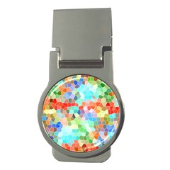 Colorful Mosaic  Money Clips (round)  by designworld65