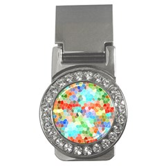 Colorful Mosaic  Money Clips (cz)  by designworld65