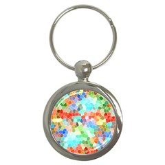 Colorful Mosaic  Key Chains (round)  by designworld65