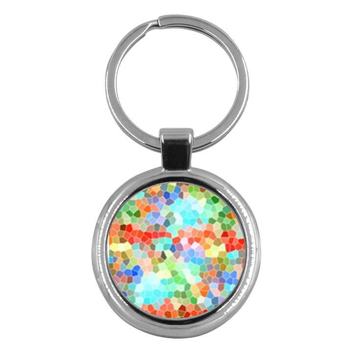 Colorful Mosaic  Key Chains (Round)